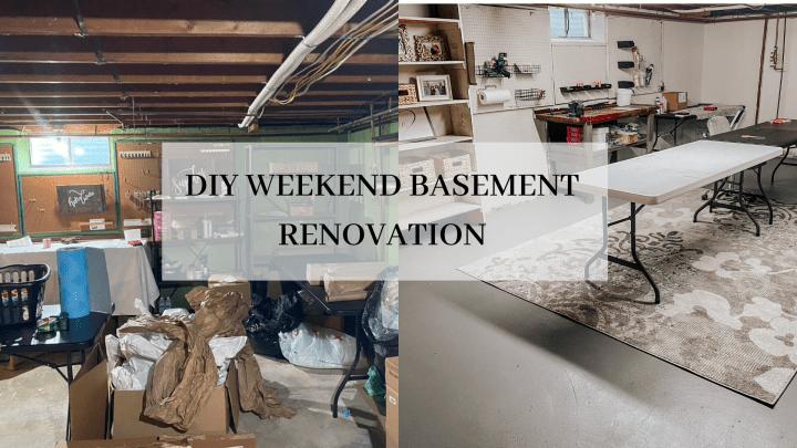 Weekend Basement Renovation