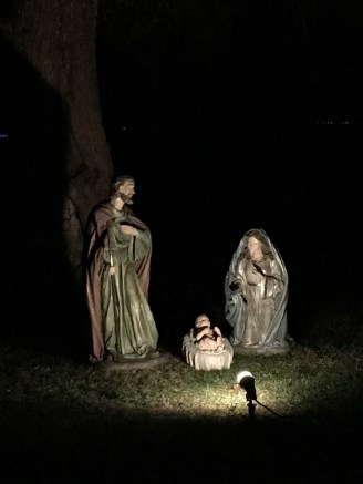 Nativity in our front yard