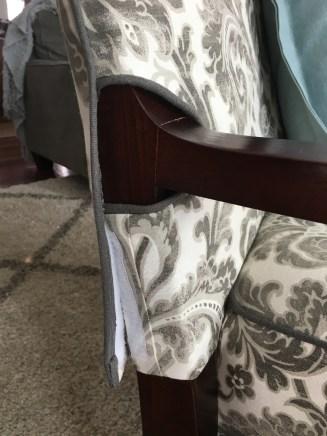 Velcro side closure