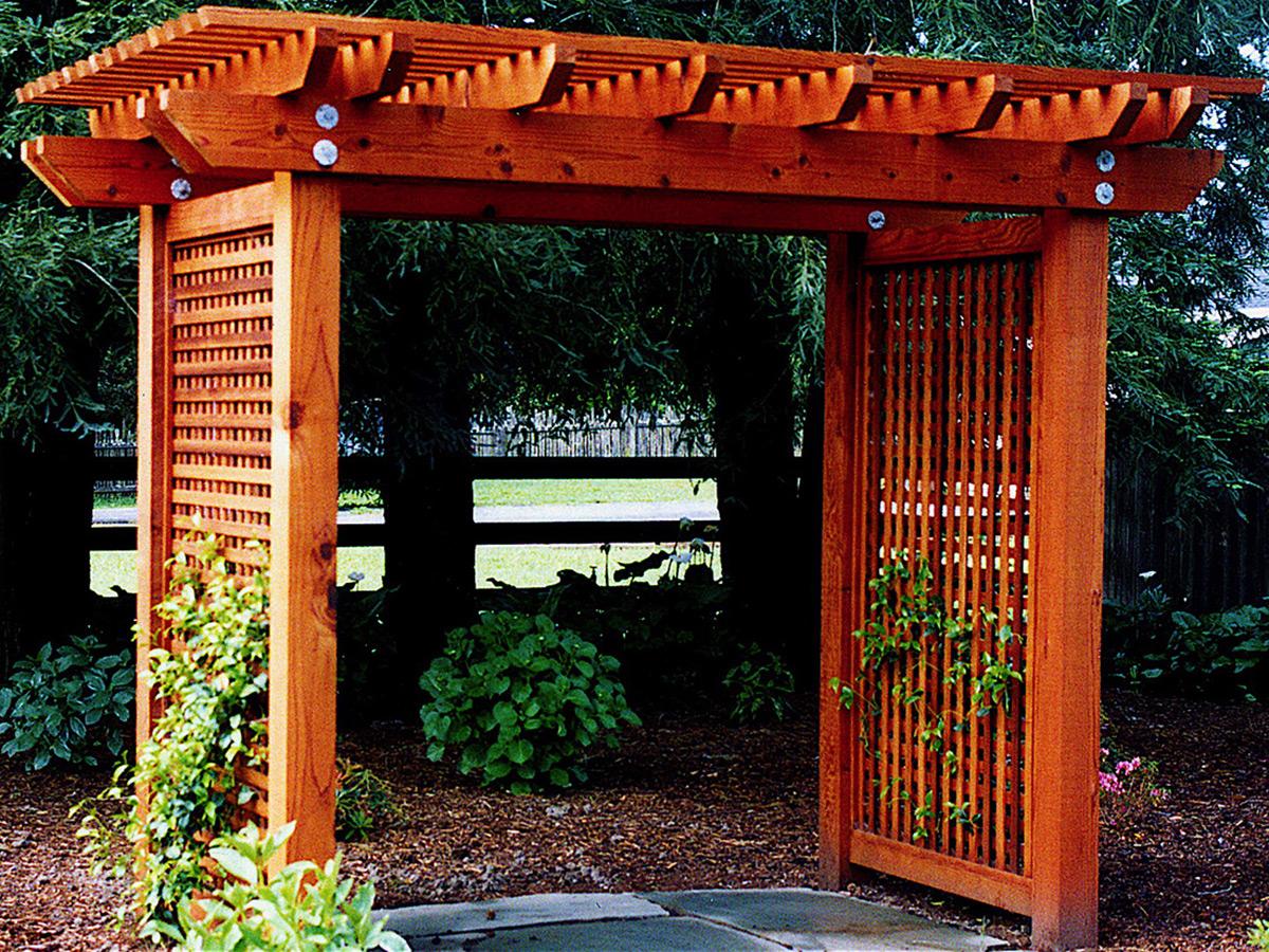 3 Tiered Arbor Design Made Of Redwood Details Landscape Art