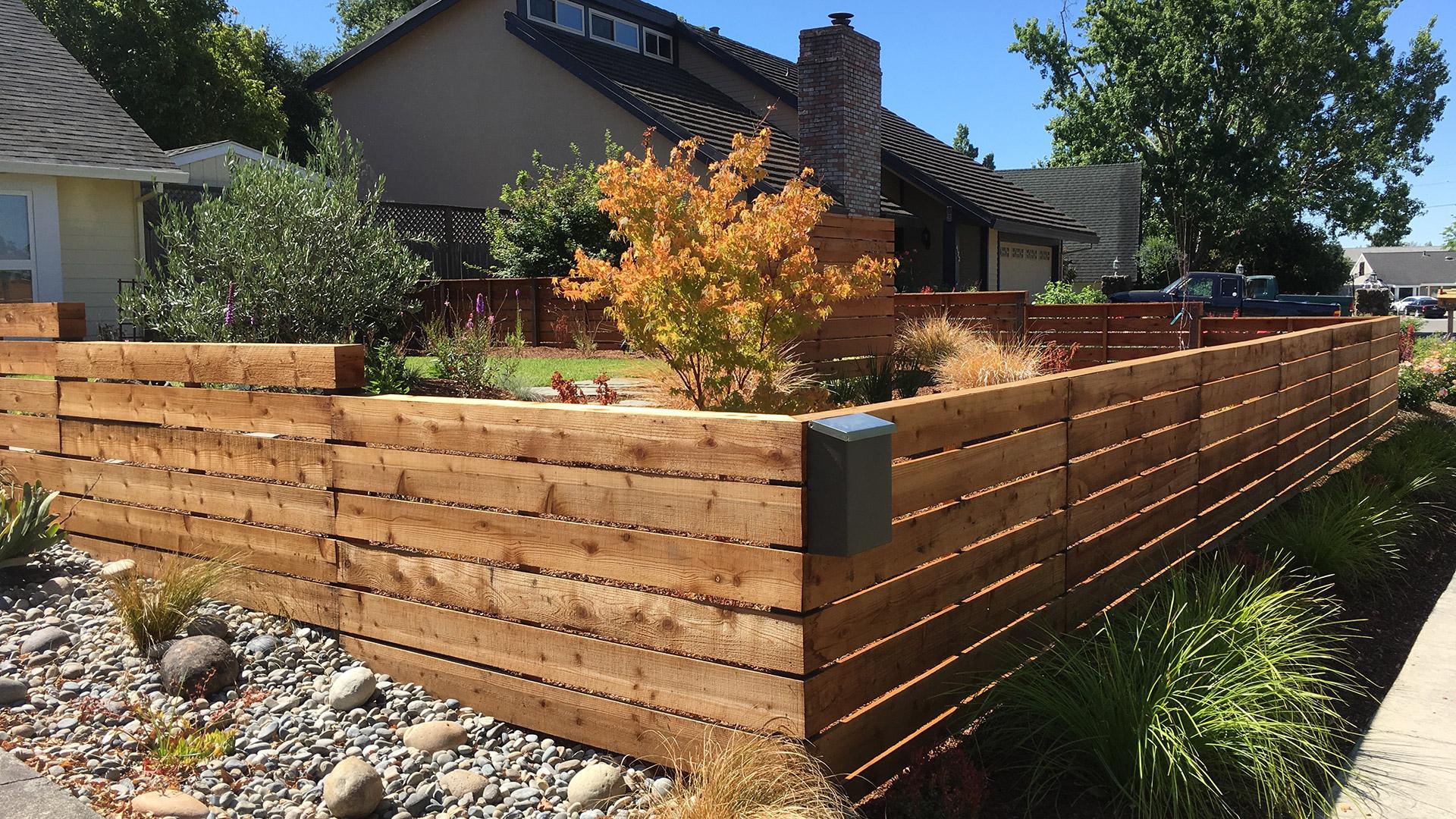 Horizontal Fence Construction Details Details Landscape Art