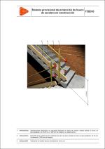 Sistema provisional de protección de hueco de escalera en construcción
