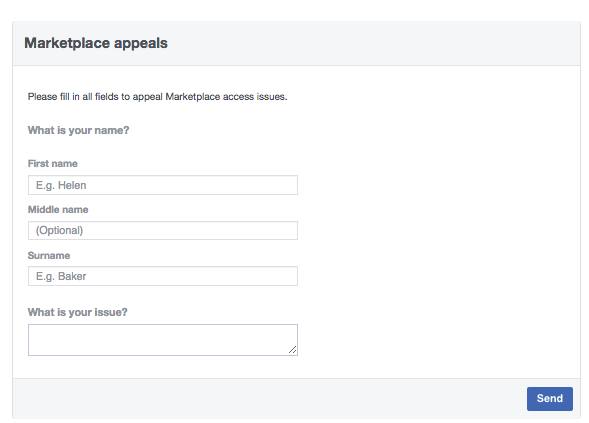 restore access to facebook marketplace