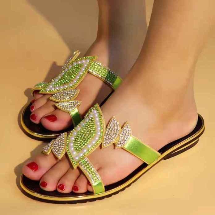beaded sandal