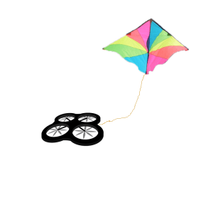 drone-flying-kite