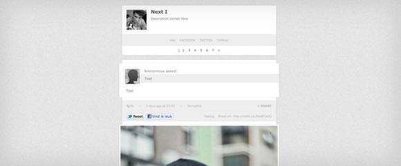 Next - Beautiful Free Tumblr Themes 2014