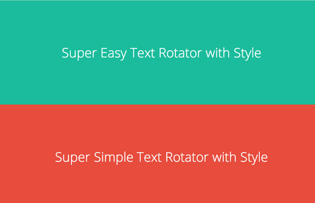 jquery text rotator