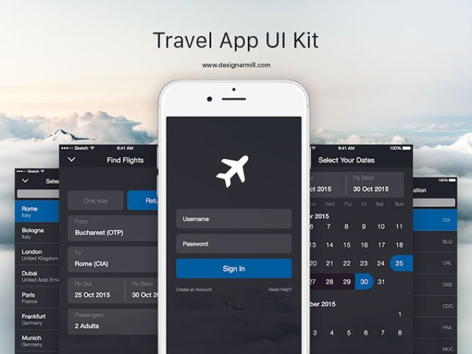 Travel App - UI Kit