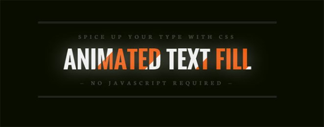 Animated text fill