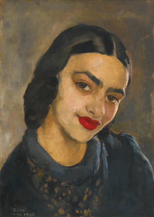 Self-portrait by Amrita Sher-Gil Art