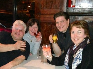 Jan. 2013-And after a long day of hunting...drinks of course.