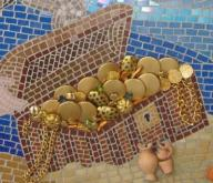 mosaic-underwater-diver-and-treasure-chest-21496514
