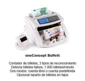 oneConcept Buffett - contador detector billetes falsos