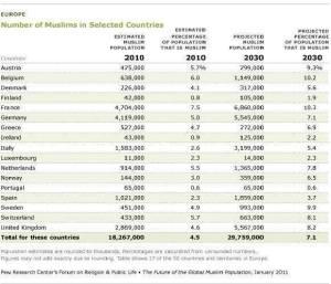 liczebność muzlmanow