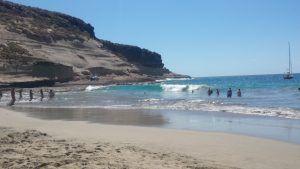 La plage Diego Hernandez la caleta