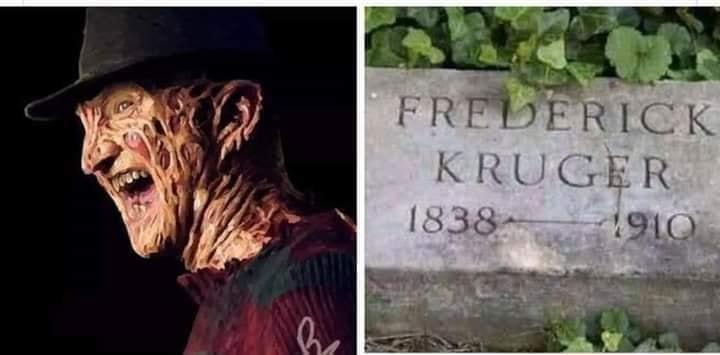 Frederick Kruger - Freddy Kruger - lápida