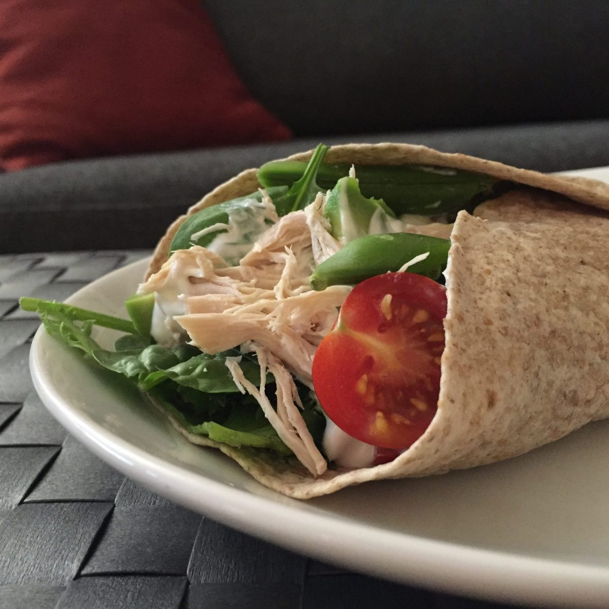 Pulled chicken i wrap