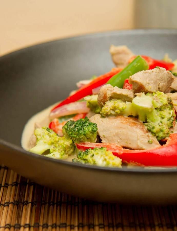 Enkel thai-inspirert wok