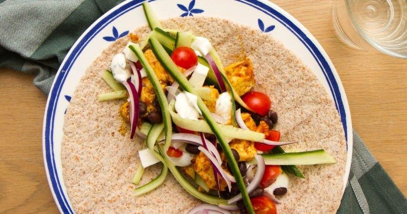 Enkel kyllingwraps - Sunn middag til hverdager