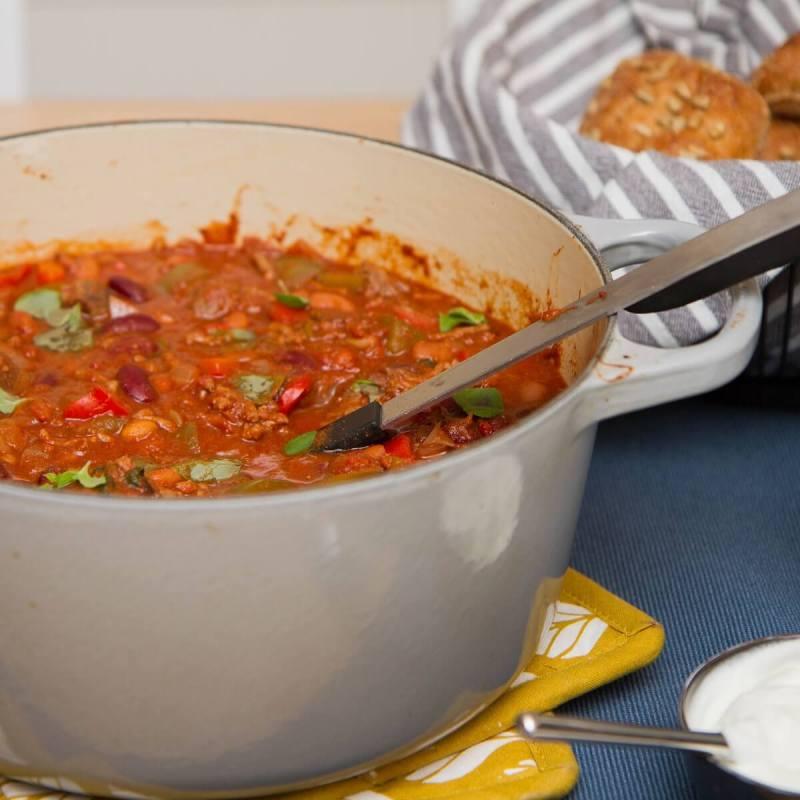 Chili con carne med storfekjøtt