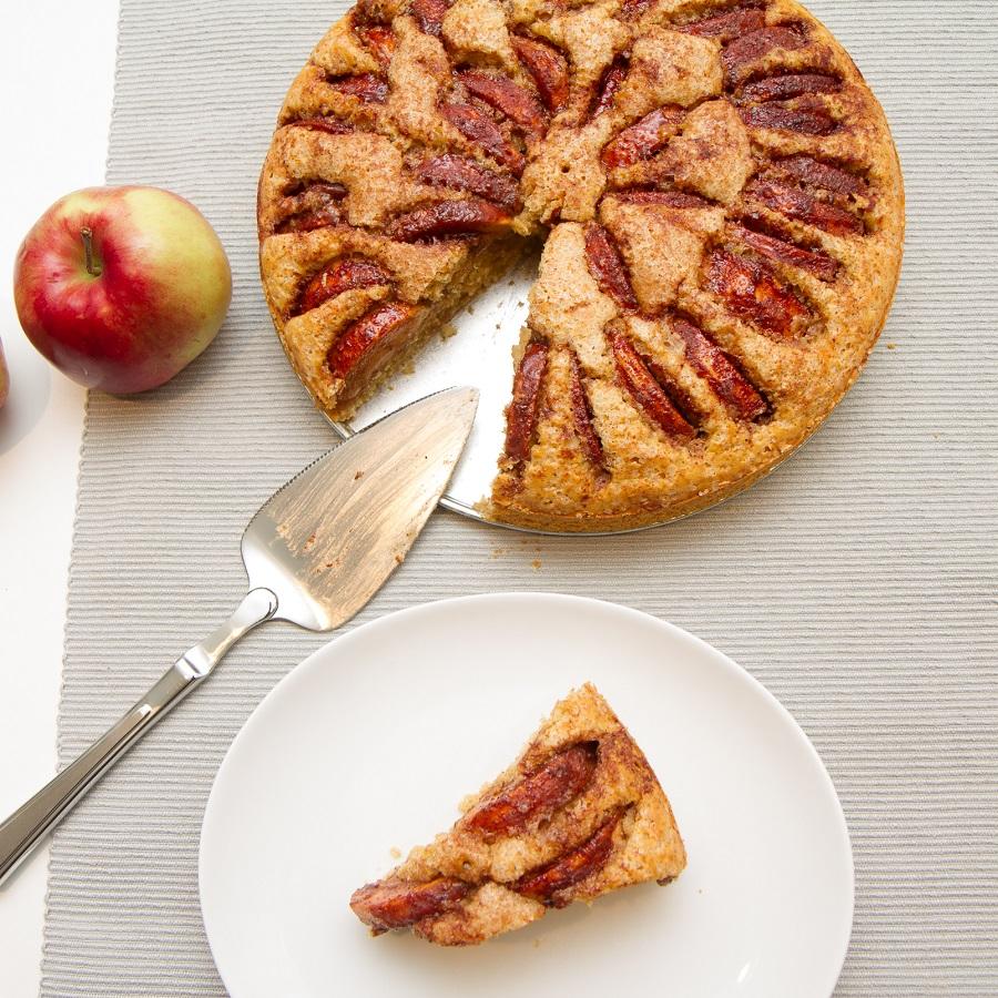 Hjemmelaget eplekake med en sunnere vri