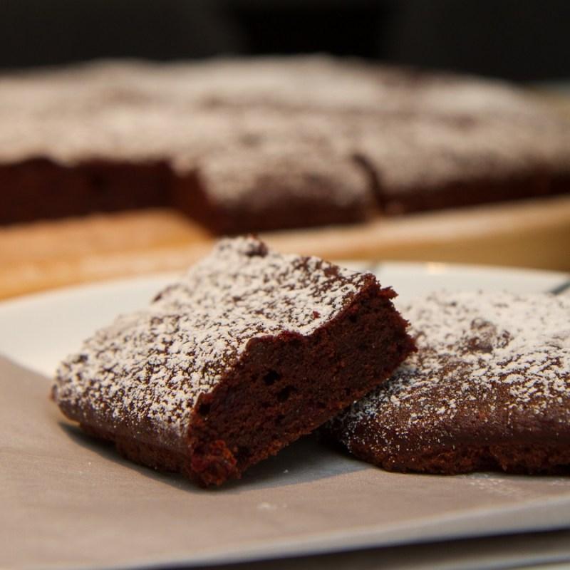 Brownies med rødbeter