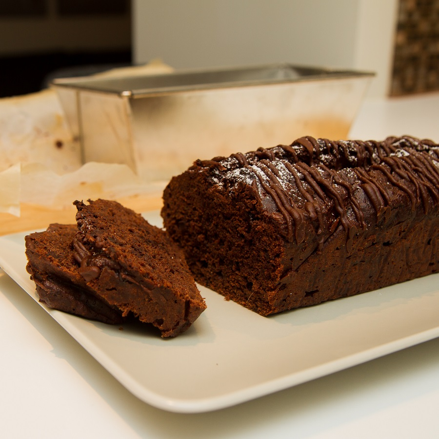 Banan- og sjokoladekake