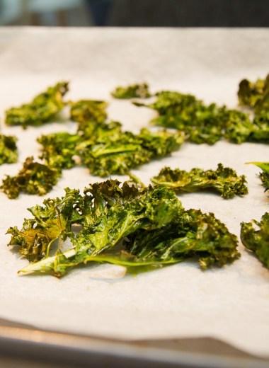 Grønnkålchips