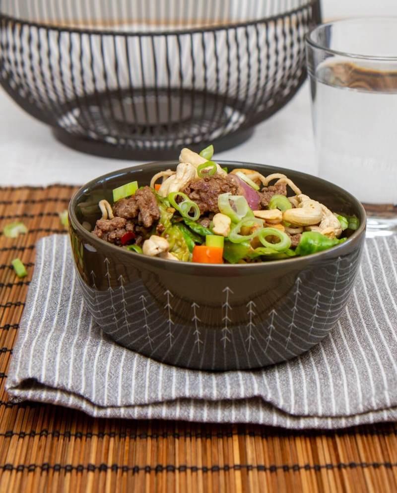 Kjapp wok med karbonadedeig
