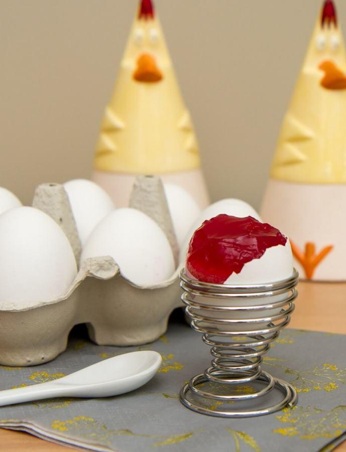 Gelefylte egg