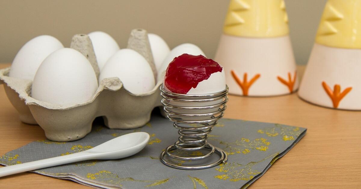 Gelefylte egg til påskefrokosten