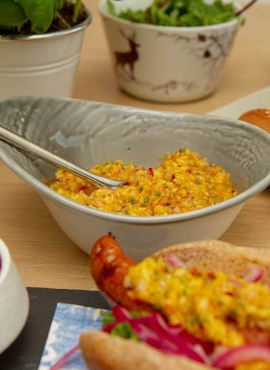 Chunky mangosalsa - Deilig pølsetilbehør
