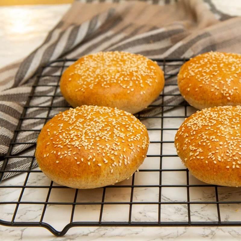 Hamburgerbrød med sesamfrø