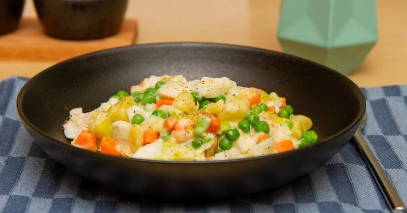 Plukkfisk med poteter
