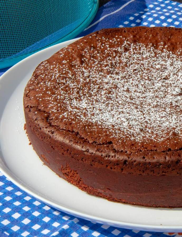 Sjokoladekake uten hvetemel