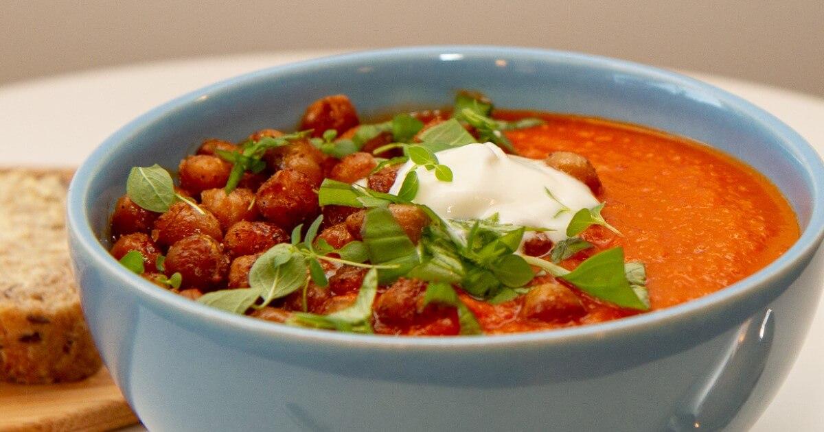 Spicy tomatsuppe med kikerter