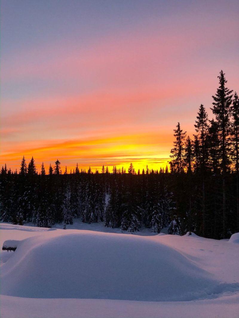 Solnedgang fra Nordseter