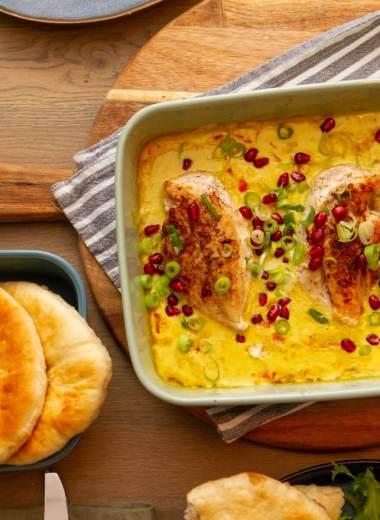 Kyllingform med nanbrød