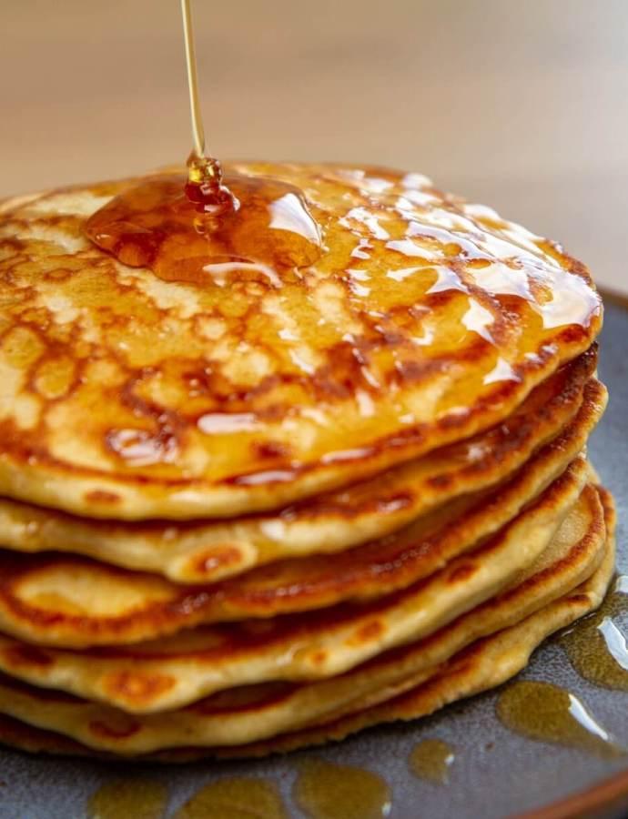 Litt grove amerikanske pannekaker