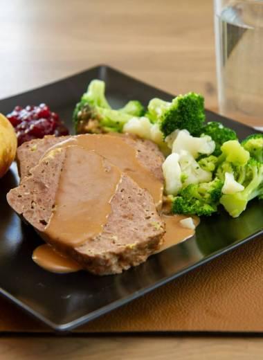 Kjøttpudding med brunsaus