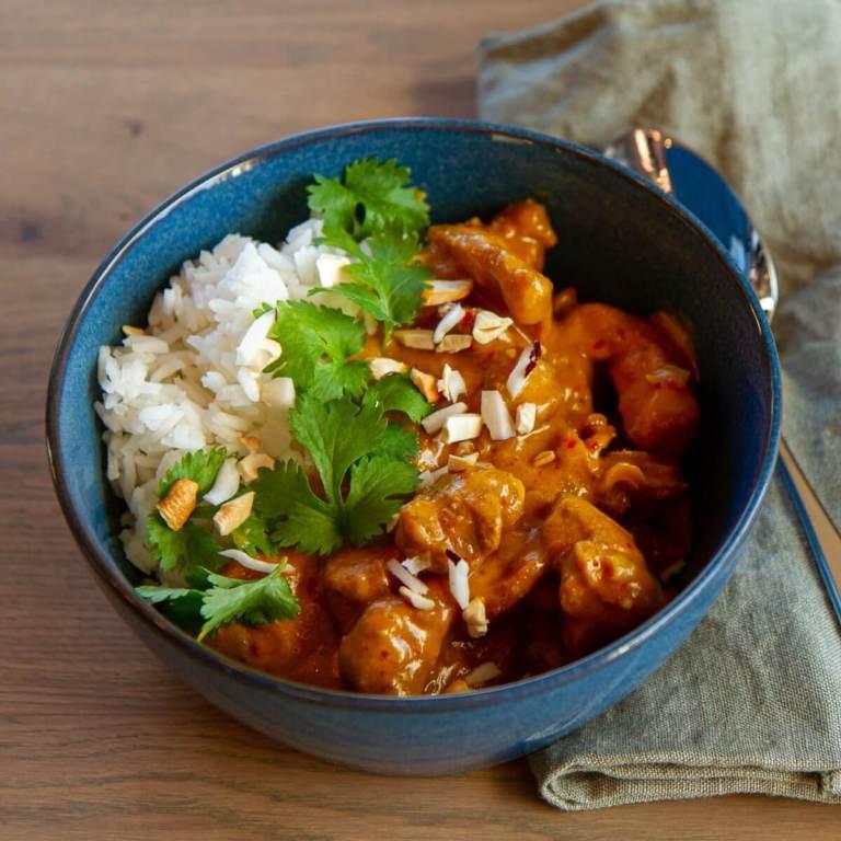 Kylling curry i peanøttsaus