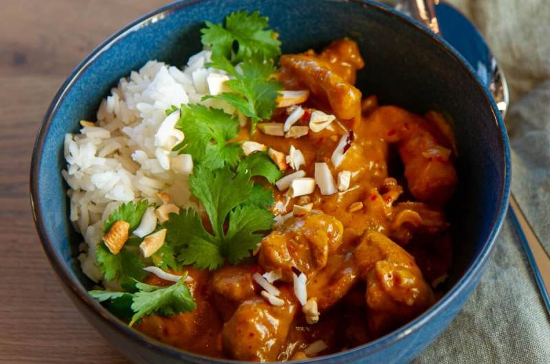 Kylling satay curry
