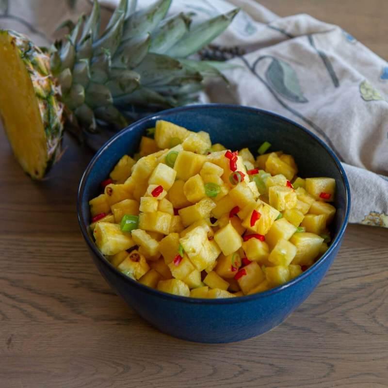Sommerlig anananssalsa