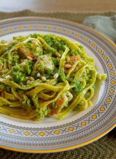 Kylling pasta og pesto