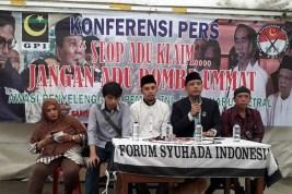 Stop Adu Klaim, Jangan Benturkan Ummat Islam Dengan Aparat