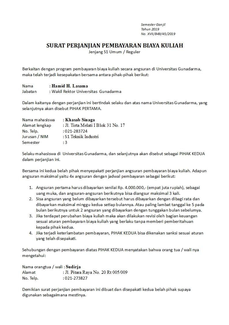 Contoh Surat Perjanjian Pelunasan Sisa Hutang - Download ...