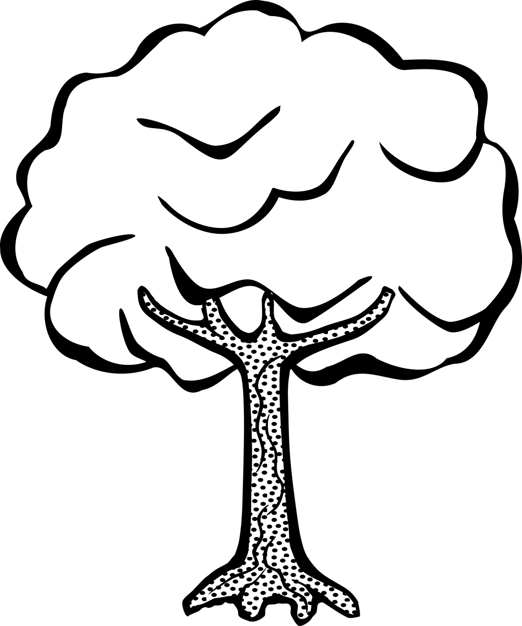 free printable tree coloring pages for kids 14 pics how to draw