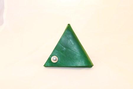 Trekantspung grøn Det Lille Læderi