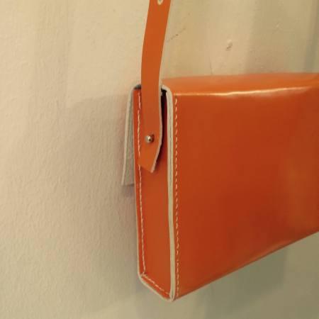 Sonja håndsyet orange kernelædertaske fra Det Lille Læderi 4