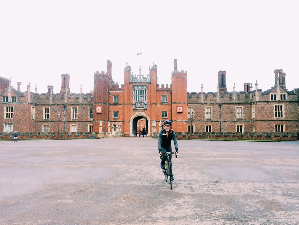 Lucy-cycling-Hampton-Court